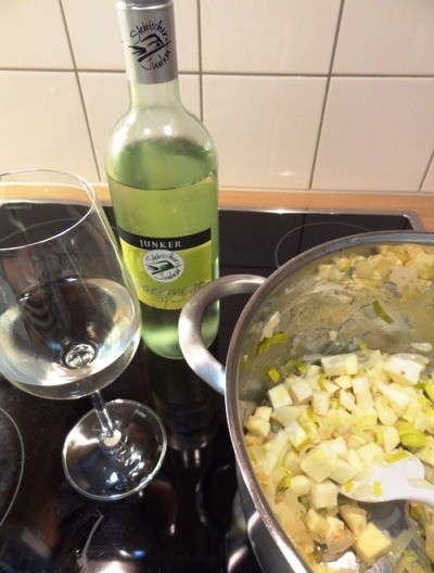 Wein ablöschen