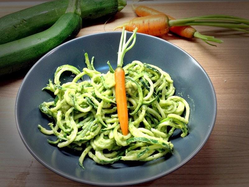 Zuccininudeln mit Avocado-Basilikum Pesto 2